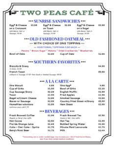 Picture of Breakfast Menu PG 2
