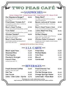 Picture of Saturday Menu PG 1
